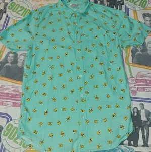 2016 Pokemon Pikachu All Over Hawiian Button Shirt